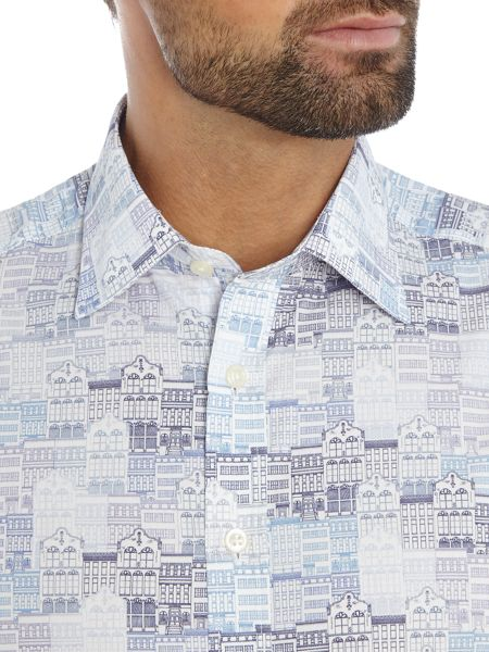Simon Carter Map Print Shirt