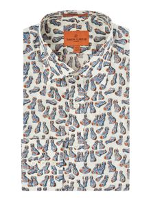 Simon Carter Liberty China Dog print shirt