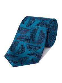 Simon Carter Silk Feathers Tie