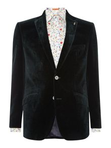 Simon Carter Printed Velvet Jacket