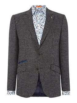 Dogstooth Wool Jacket