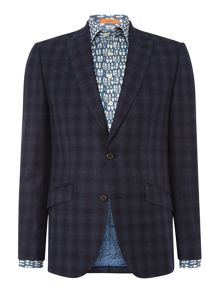 Simon Carter Blue Shadow Check Suit
