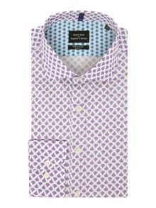 Simon Carter Long sleeve Slim Fit Fig Print Shirt