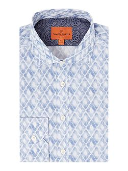 Watercolour Diamond Print Harrison Shirt