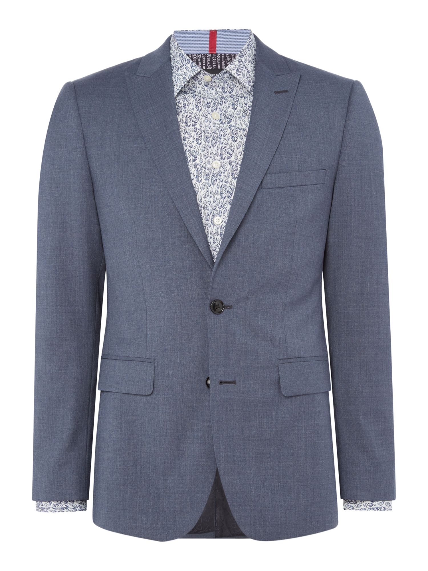 Men's Simon Carter Crepe Weave Suit, Slate Blue