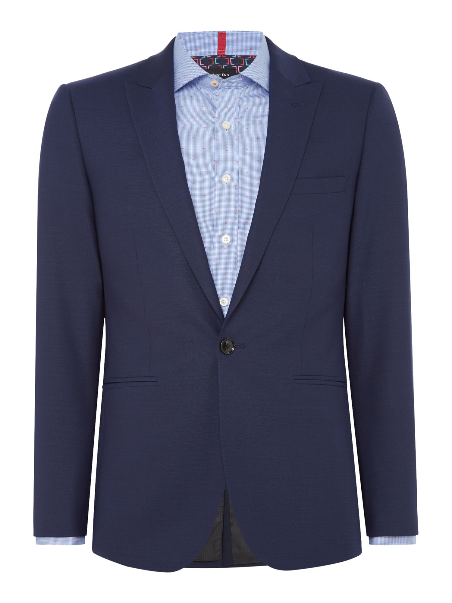 Men's Simon Carter Pindot Suit, Navy