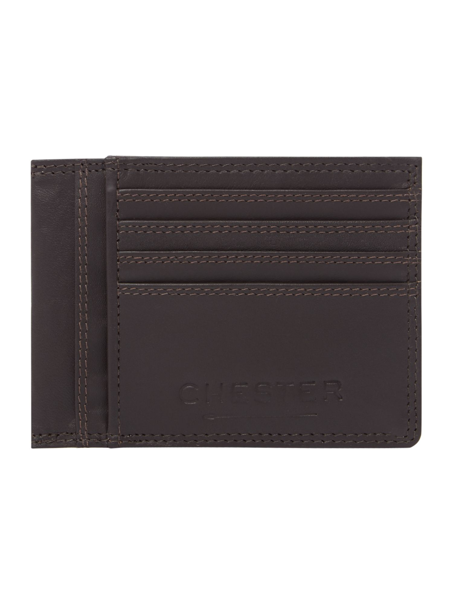 Chester Barrie Brown Leather Card Case, Brown