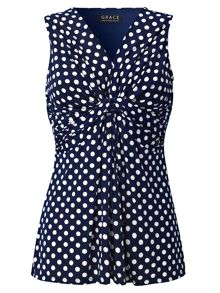 Grace Made In Britain Polka Tunic Top