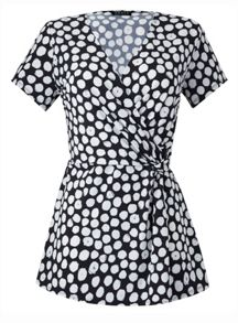 Grace Made In Britain Polka Twist Knot Top