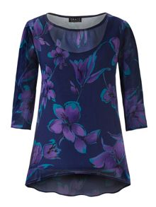 Grace Grace Made in Britain chiffon tunic