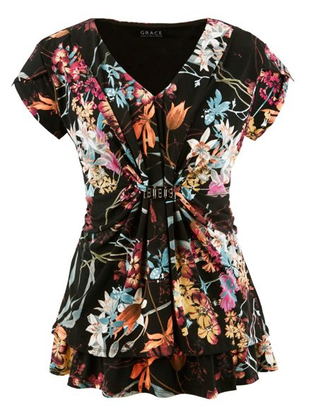Grace Grace Made in Britain floral tunic