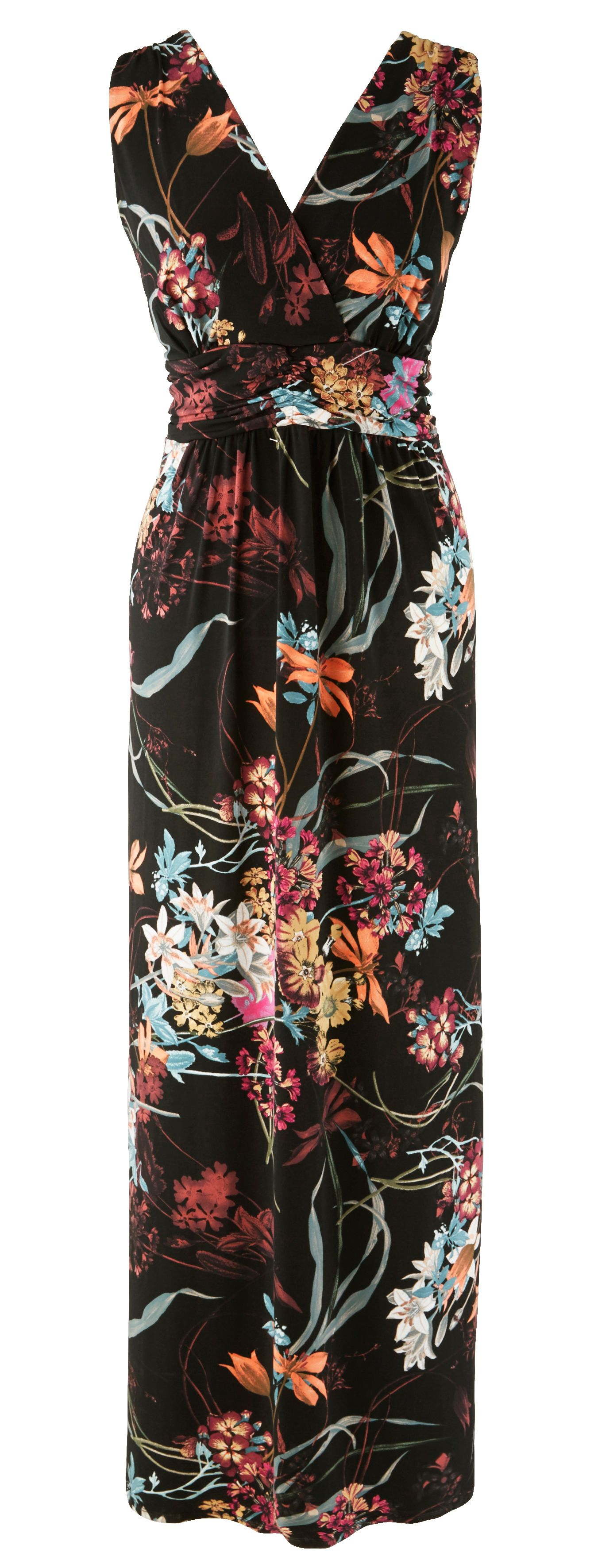 Grace Grace Made in Britain Floral Maxi, Multi-Coloured
