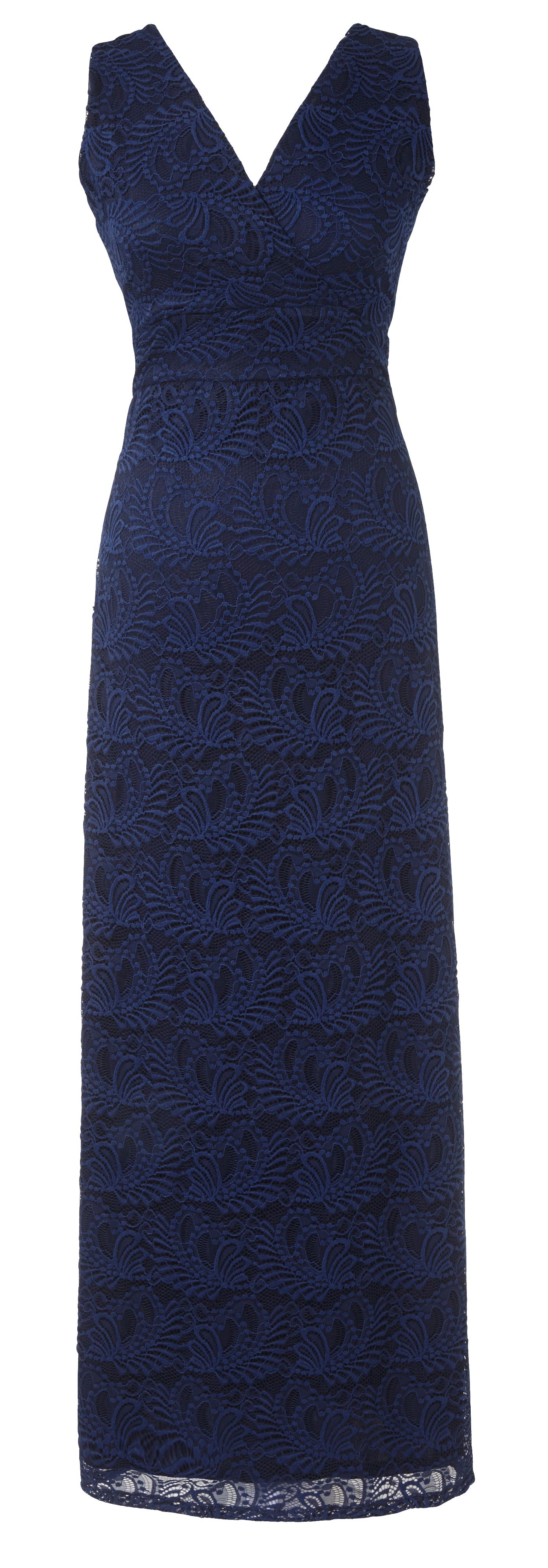 Grace Grace Made In Britain Maxi Bolero Set, Navy