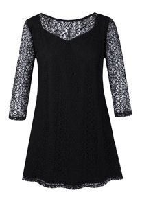 Grace Grace Made in Britain net lace tunic