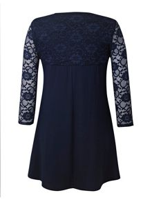 Grace Grace Made in Britain lace tunic