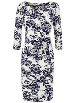 Grace Made in Britain floral shift dress