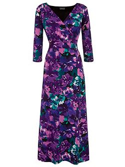 Grace Made in Britain print maxi dress