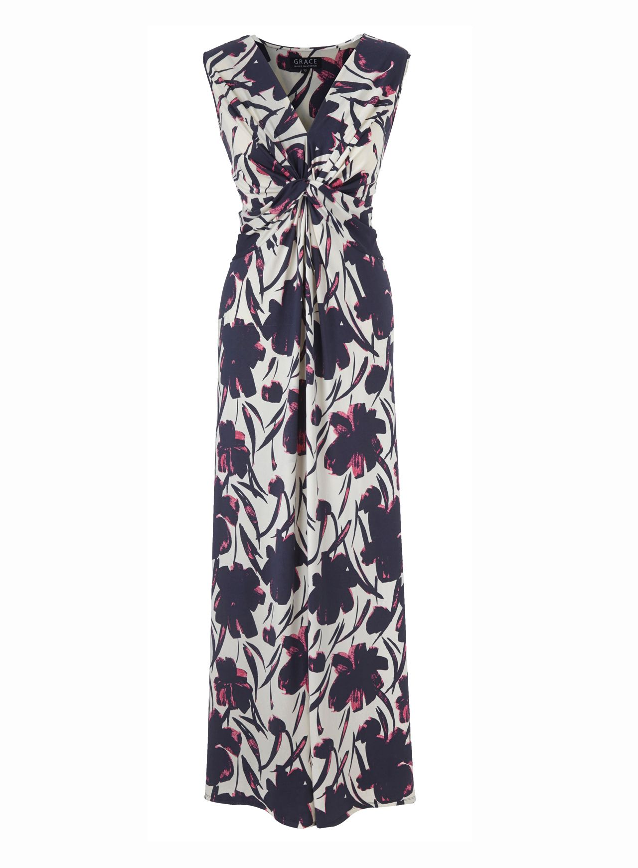 Grace Grace Grace Made in Britain Floral Maxi, Pink