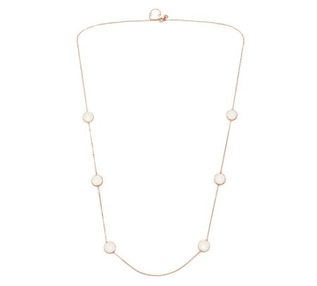 Lola Rose Nerio Station Necklace White Sea Shell