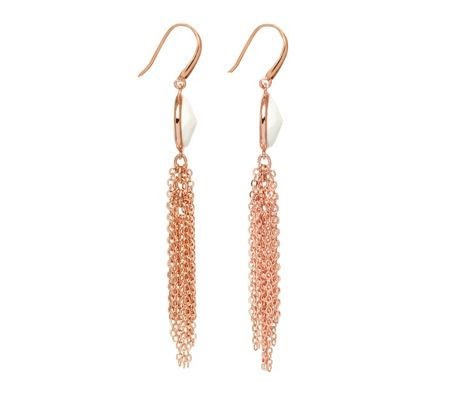 Lola Rose Nerio Tassel Earring White Sea shell