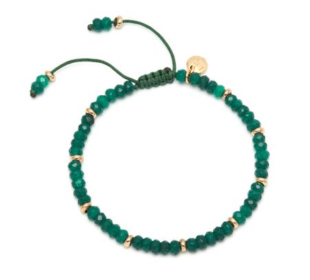 Lola Rose Northwood Bracelet Basil Green Quartzite