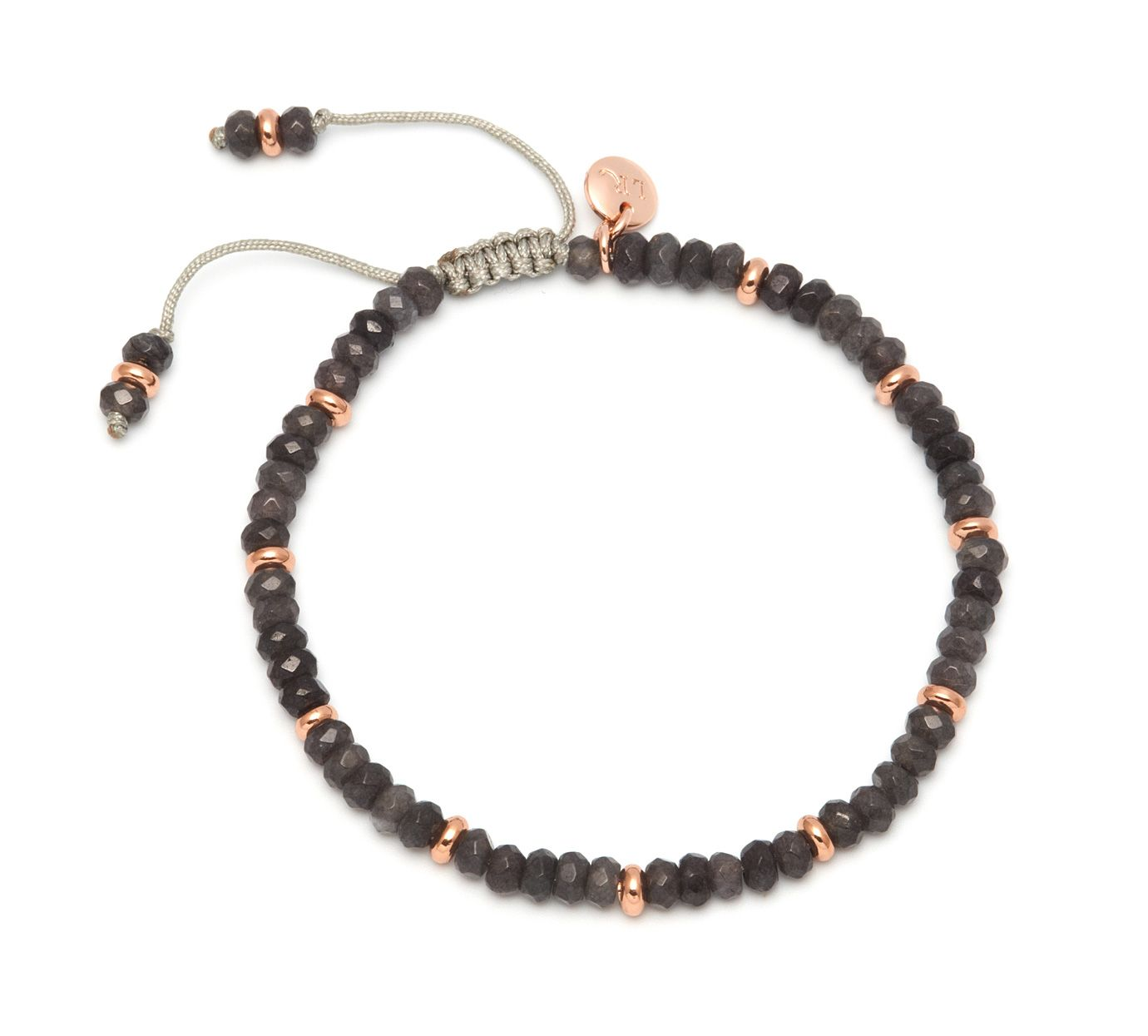 lola rose northwood bracelet smokey grey quartz