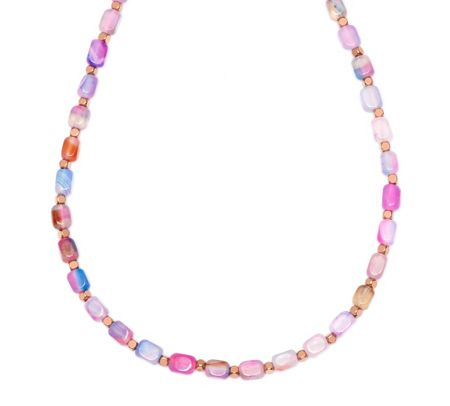 Lola Rose Roxane Necklace Candy Stripe Mont Agate