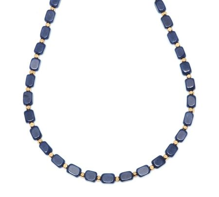 Lola Rose Roxane Necklace French Navy Quartz