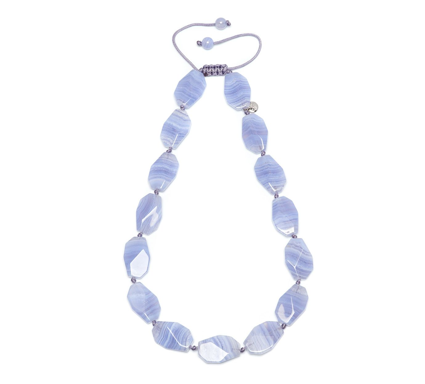 lola rose rylee necklace blue lace agate