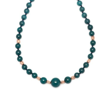Lola Rose Zanzibar Nugget Necklace Petrol Blue