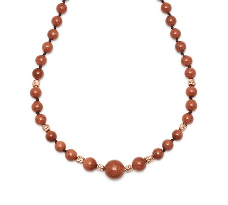 Lola Rose Zanzibar Nugget Necklace Gold Sandstone