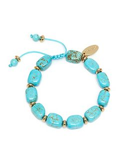Angel Bracelet Natural Blue Magnesite