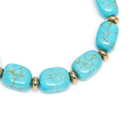 Lola Rose Angel Bracelet Natural Blue Magnesite