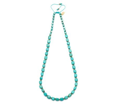Lola Rose Islington Necklace Nat Blue Magnesite