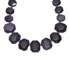 Lola Rose Elemental chunky nugget necklace blue