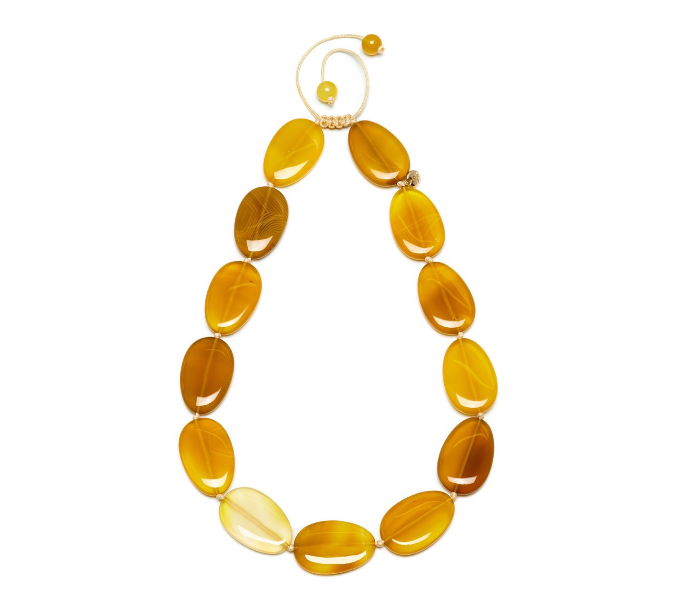 Lola Rose Bedelia necklace amber agate Yellow