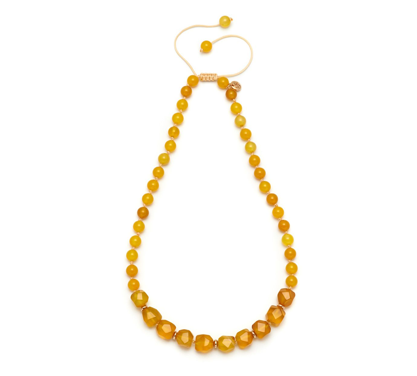 Lola Rose Marlin necklace amber agate Yellow