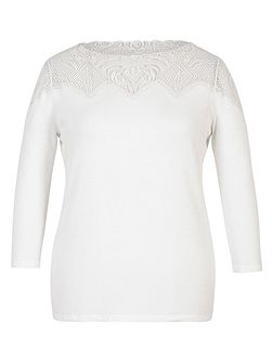 Embroidered Yoke Jumper