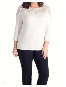 Chesca Embroidered Yoke Jumper