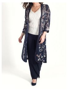 Chesca Ombre Cornelli Embroidered Lace Coat