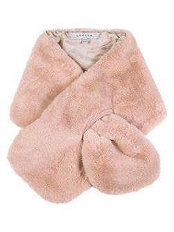 Faux Fur Tippet with Satin Lining