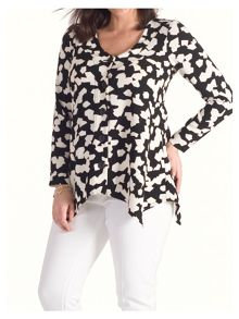 Chesca Abstract Print Jigsaw Jacket
