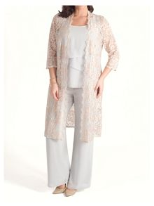 Chesca 2-Tone Scallop Lace Coat