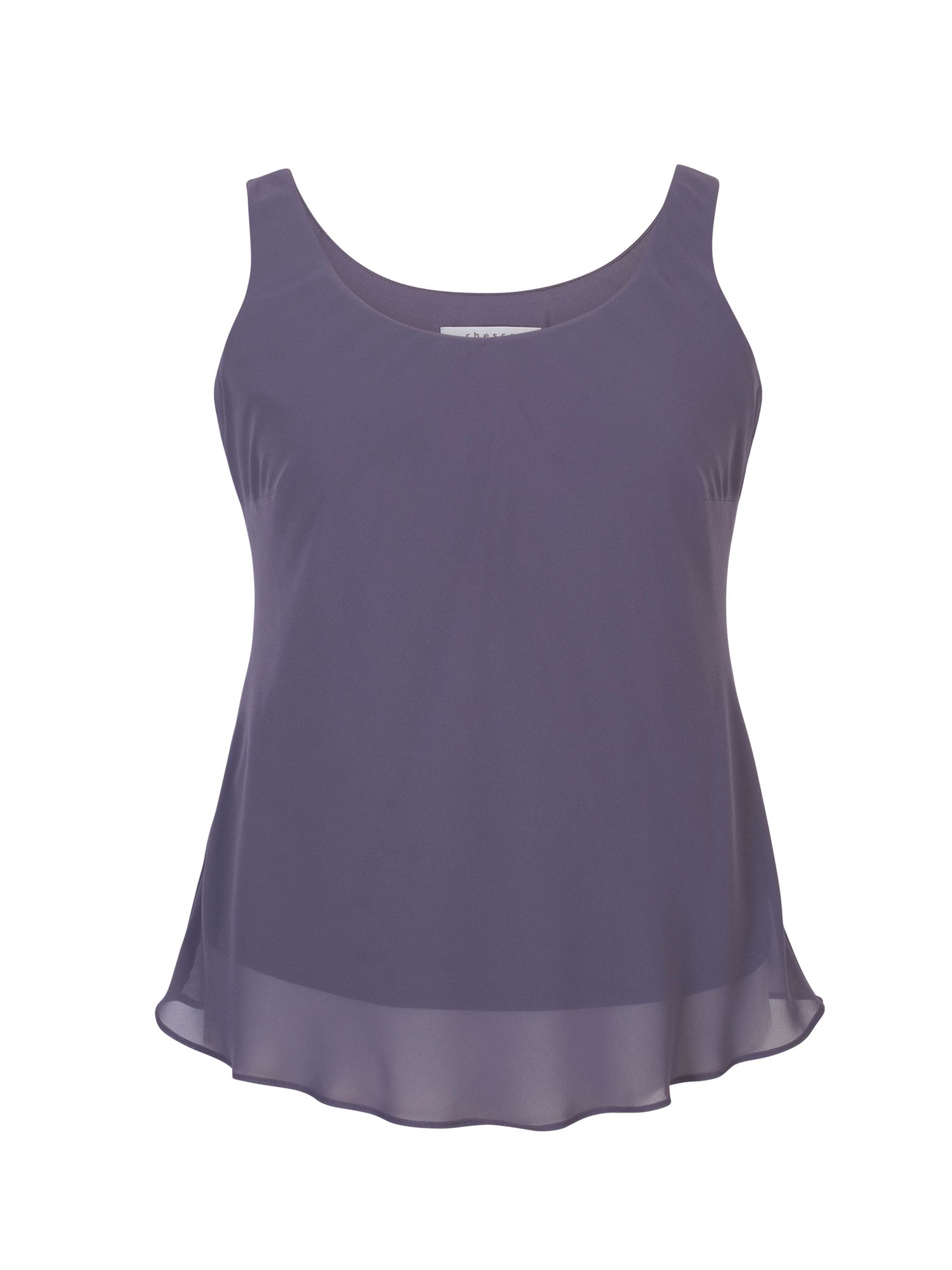 Chesca Chiffon Camisole, Purple