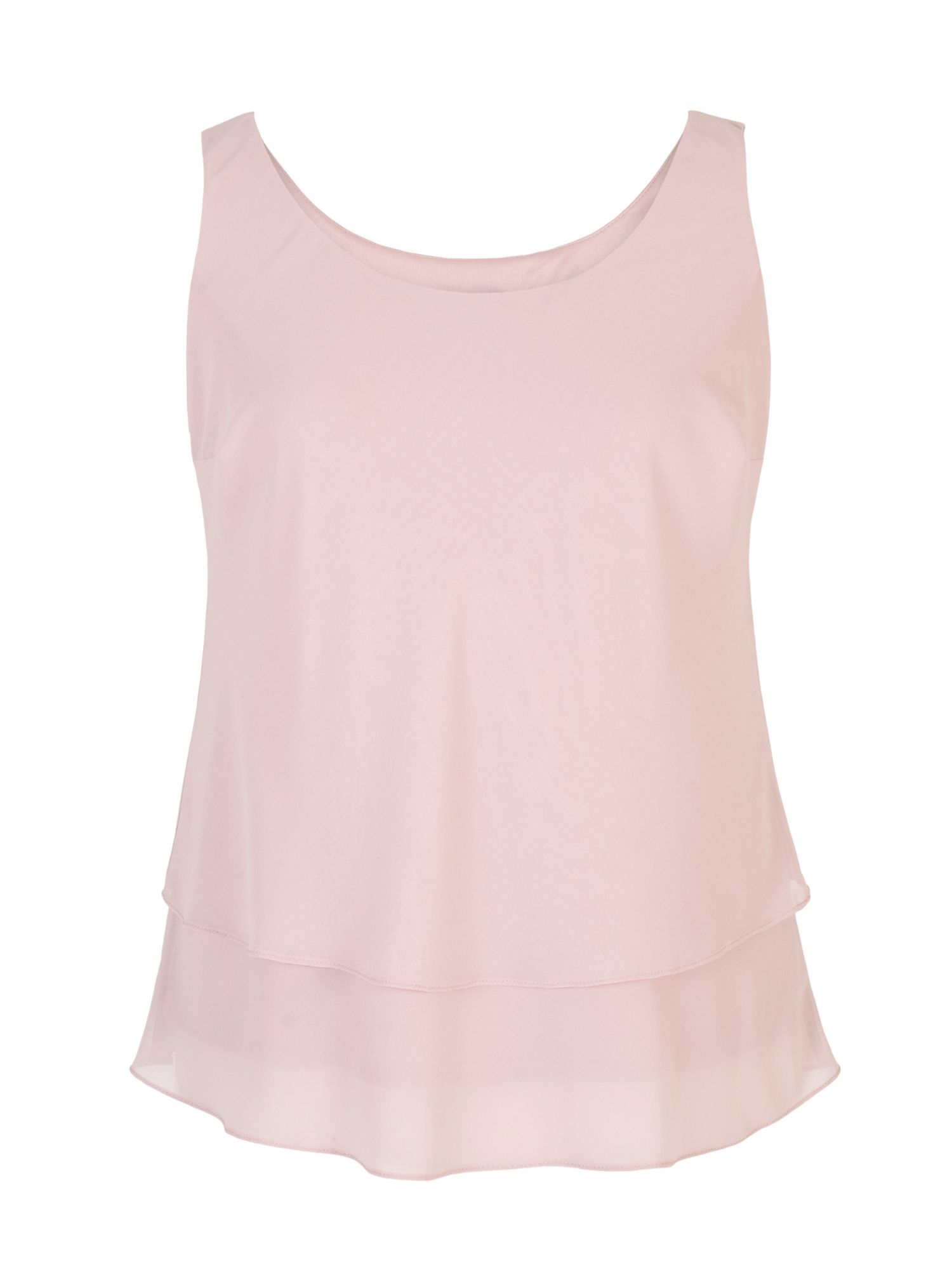 Chesca Double Layer Chiffon Camisole, Pink