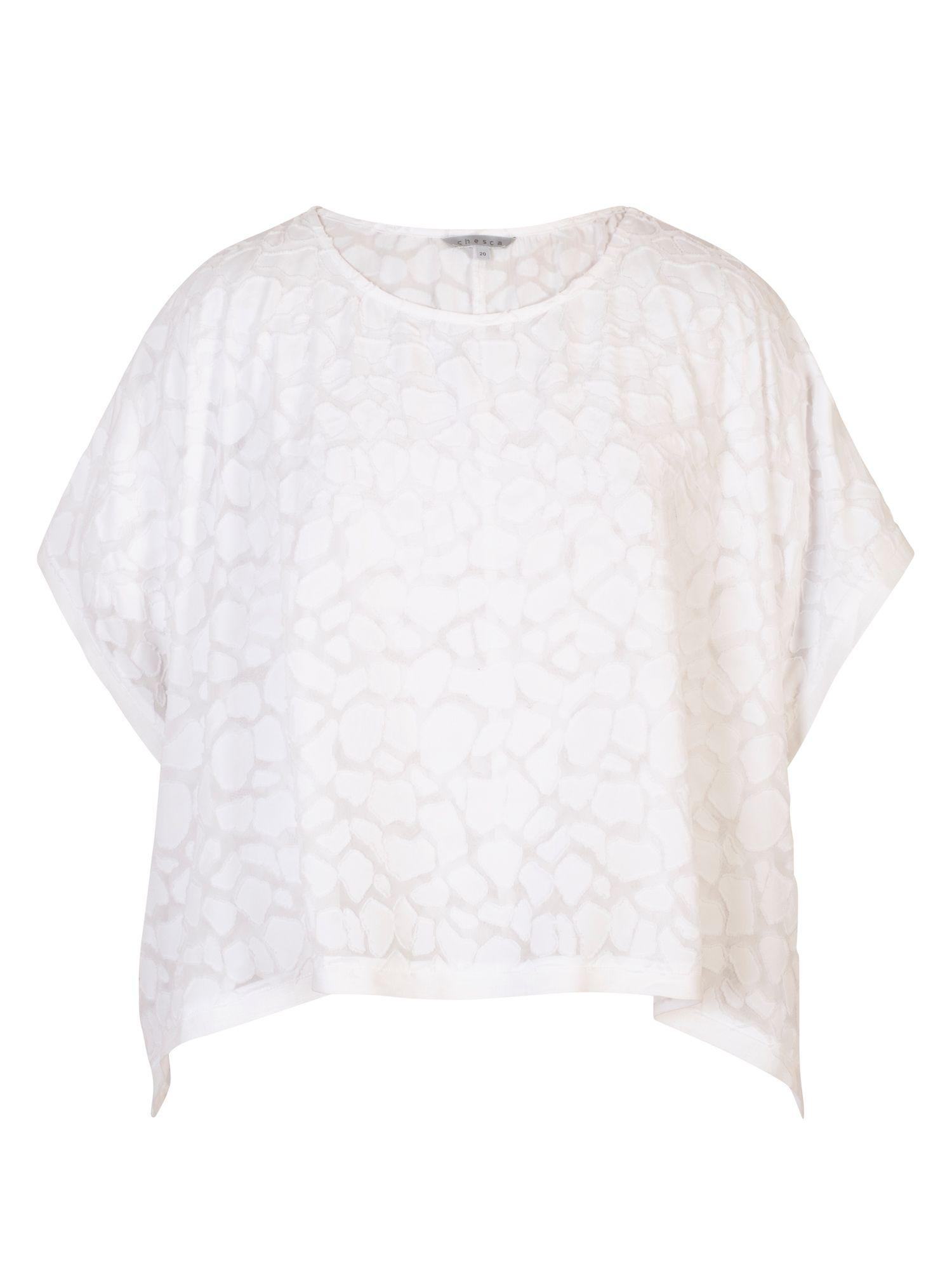 Chesca Pebble Burnout Top, White