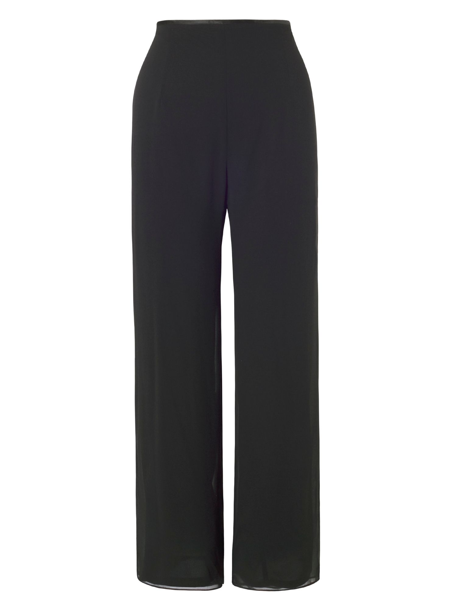 Chesca Chiffon Trouser with Jersey Lining, Black