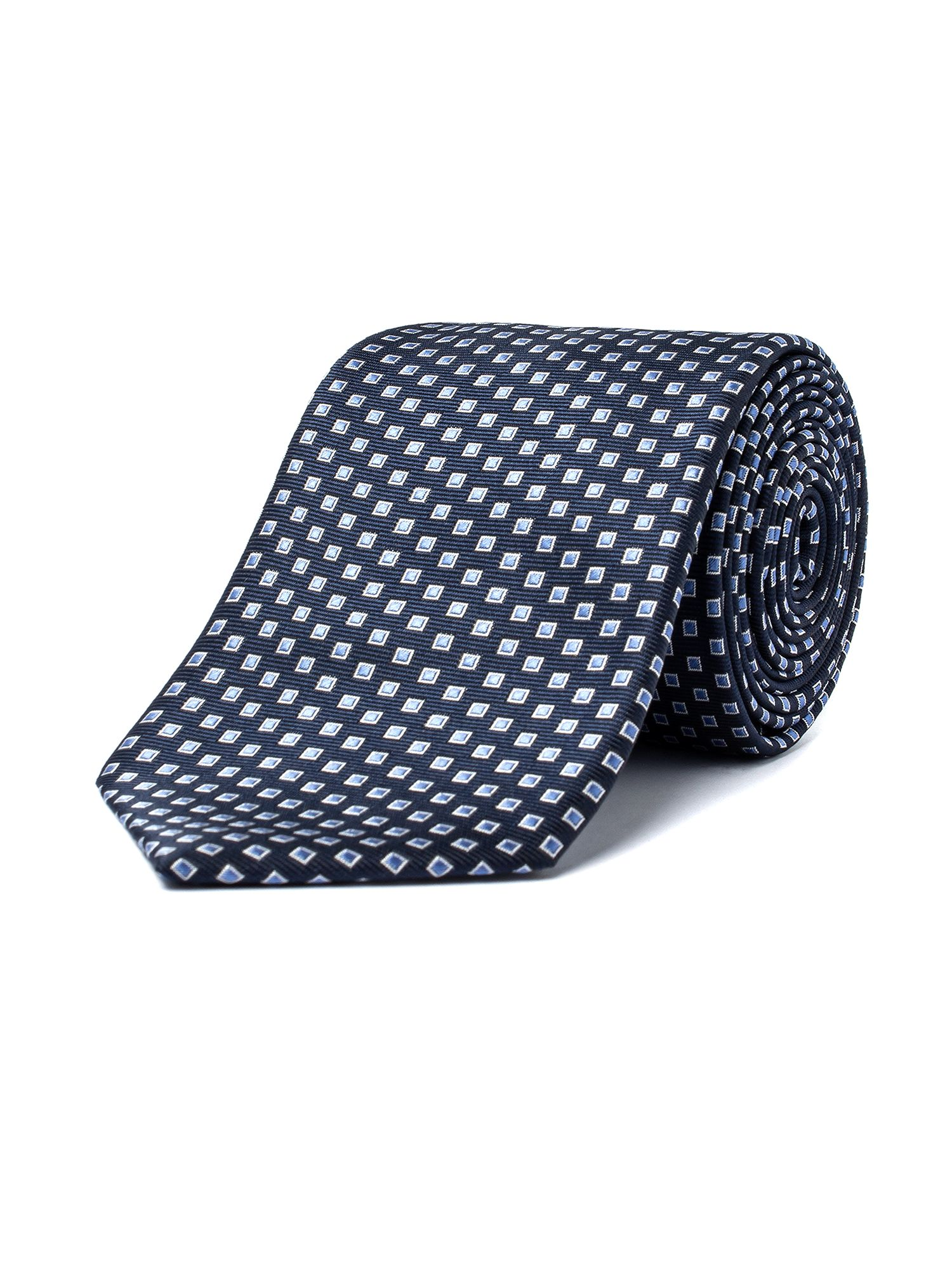 Aston & Gunn Navy Diamonds Tie Navy