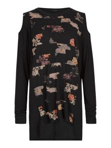 AllSaints Printed long sleeve t-shirt