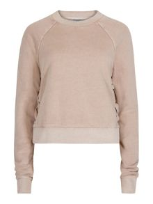 AllSaints Leti Cropped Sweat